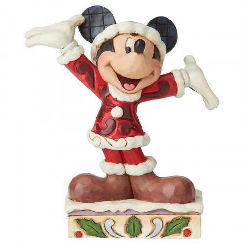 Disney Enesco Traditions Jim Shore Weihnachten 6002842 Mickey mouse Tis a Splendid Season