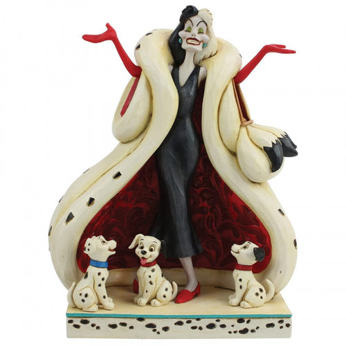 Disney Enesco Traditions Figur Jim Shore : Cruella deVil 101 Dalmatiner