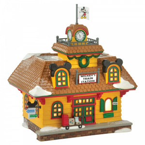 Disney Enesco Village by D56 Mickey`s Bahnhof Holiday Train Station