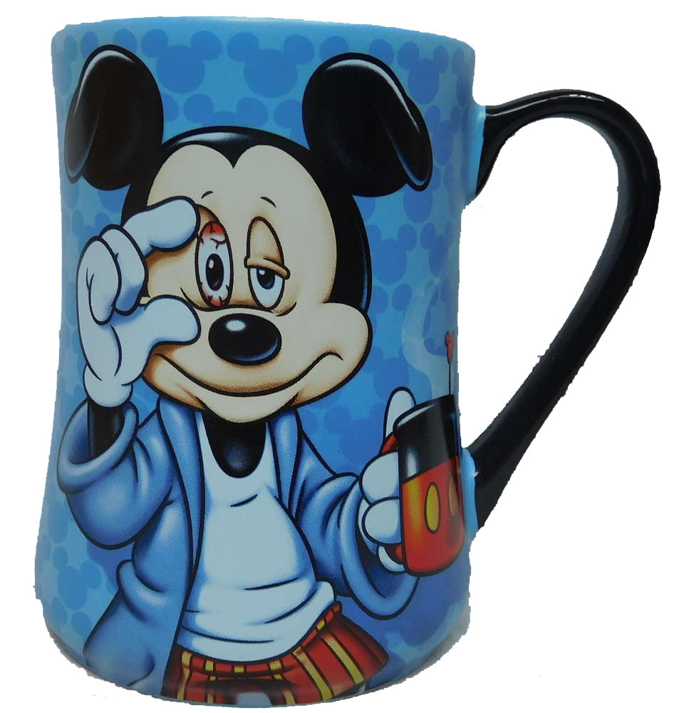 Disney Tasse Kaffeetasse Teetasse MUG Pott Mickey Mouse müde Morning 16189