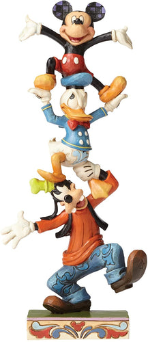 Disney Traditions 4055412 Teetering Tower Goofy Donald Mickey