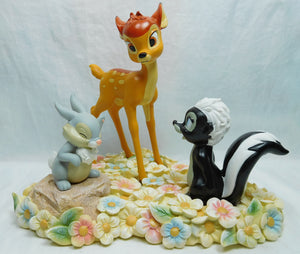 Disney Enesco Enchanting Pretty Flower (Bambi, Thumper & Flower Figurine) A28730