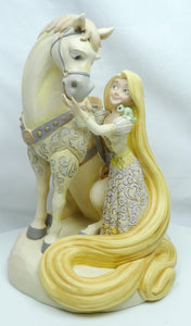 Disney Enesco Traditions Figur Jim Shore : Rapunzel & Maximus White Woodland