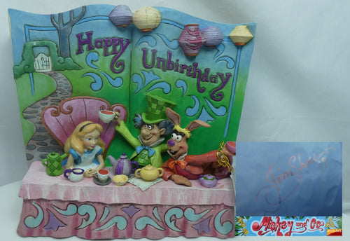 Disney Enesco Jim Shore Traditions Storybook Alice im Wunderland 4062257 Happy Unbirthday 2019 mit Signatur