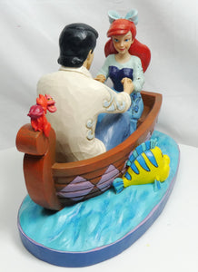 Disney Enesco Traditions Figur Jim Shore : Arielle die Meerjungfrau & Prinz Eric im Boot 4055414