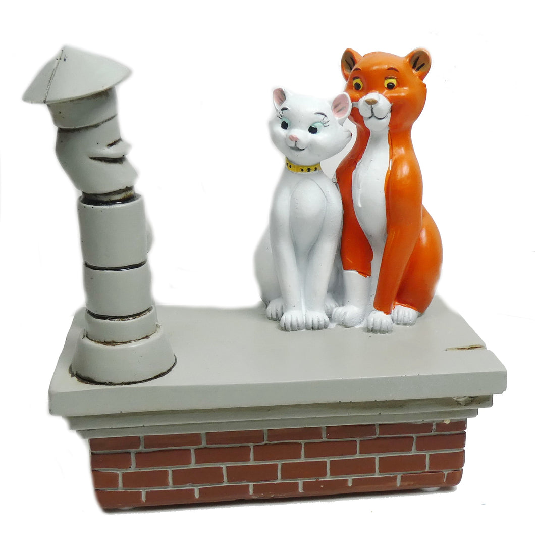 Disney Widdop Figur How Romantic : Aristocats Duchese & Thomas O` Malley