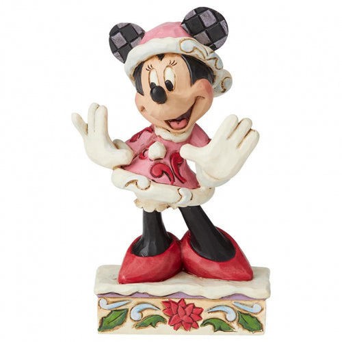 Disney Enesco Traditions Jim Shore Weihnachten 6002843 Minnie Mouse Festive Fashionista