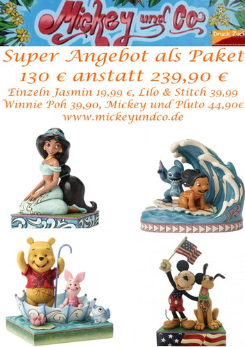 Disney Enesco Jim Shore Traditions 4055407 & 4050411 & 6005975 & 4054279 im Bundle