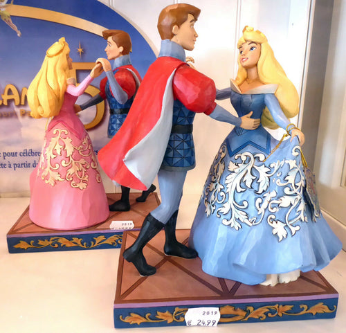 disney Enesco Traditions Jim Shore Aurora & Prinz ein Tanz Swept up the moment 4059733 blau und rosa
