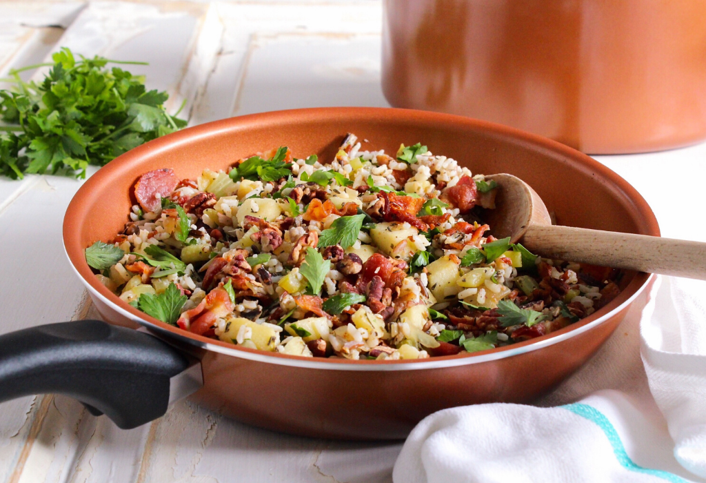 Bacon Apple Wild Rice