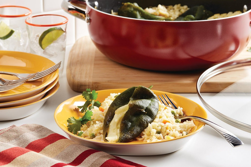 Chiles Rellenos y Arroz