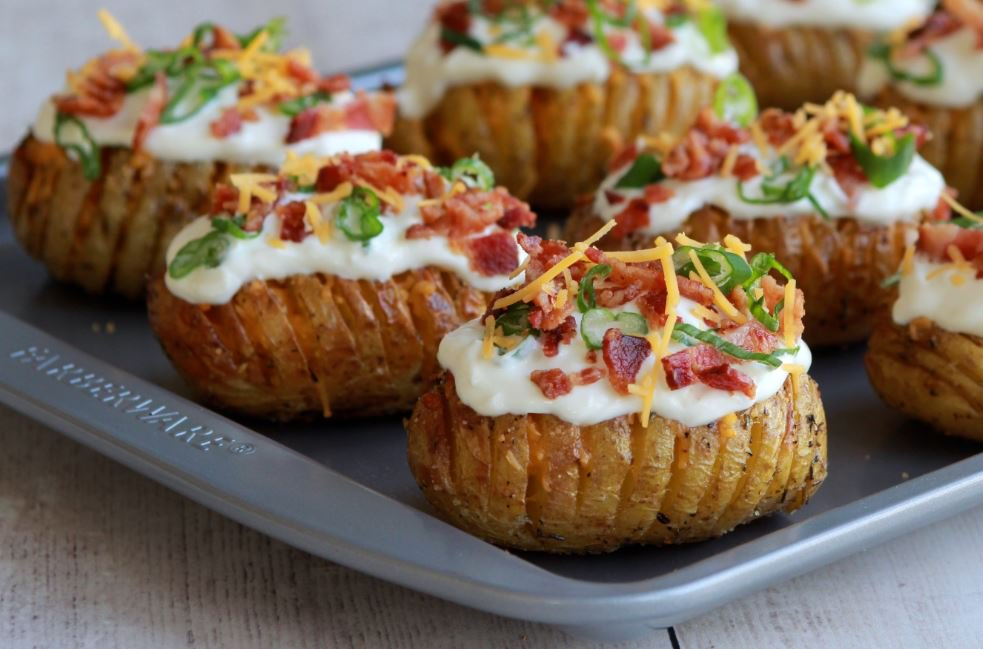 Loaded Mini Hasselback Potatoes