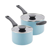 4-Piece Nonstick Stacking Saucepan Set