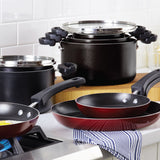 3-Piece Nonstick Stacking Frying Pan Set