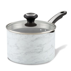 2-Quart Nonstick Saucepan with Straining Lid