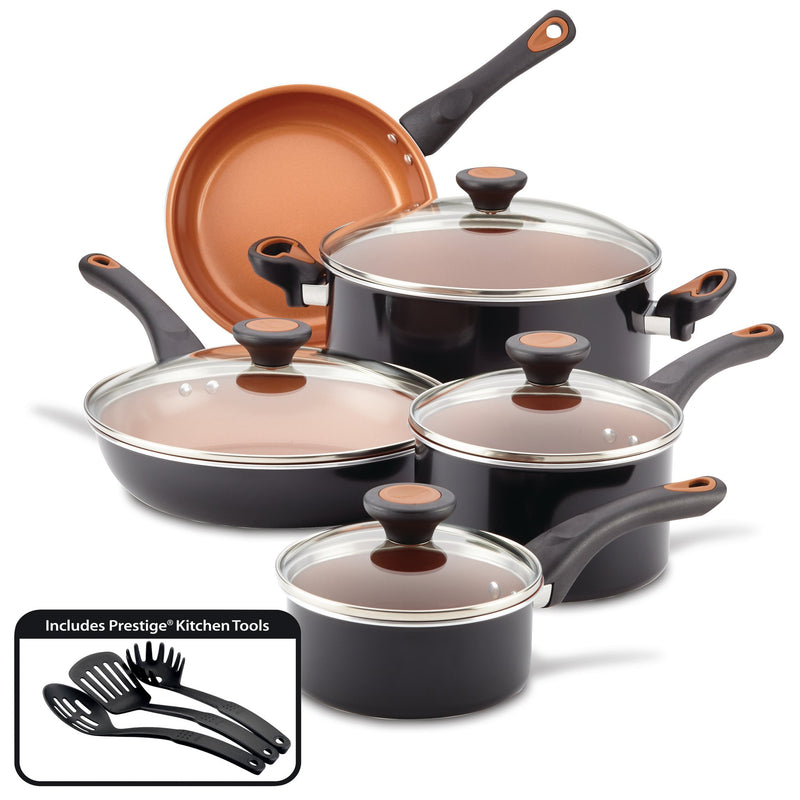 12-Piece Copper Ceramic Nonstick Cookware Set