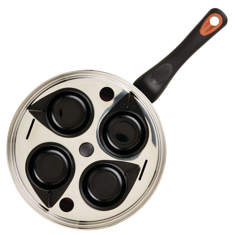 8-Inch Copper Ceramic Nonstick Egg Poacher