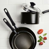 Nonstick Saucepan with Straining Lid