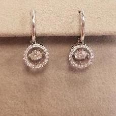 18k White Gold Diamond Halo Earrings