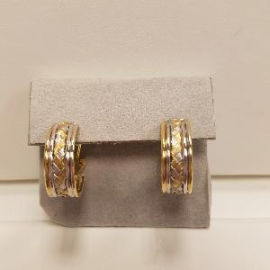 Yellow Gold Tri Color Gold Woven Earrings - SOLD