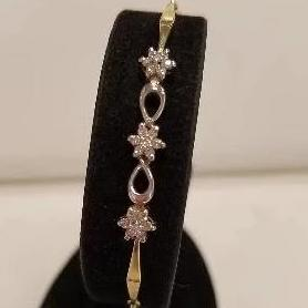 14k Two Tone Diamond Bracelet