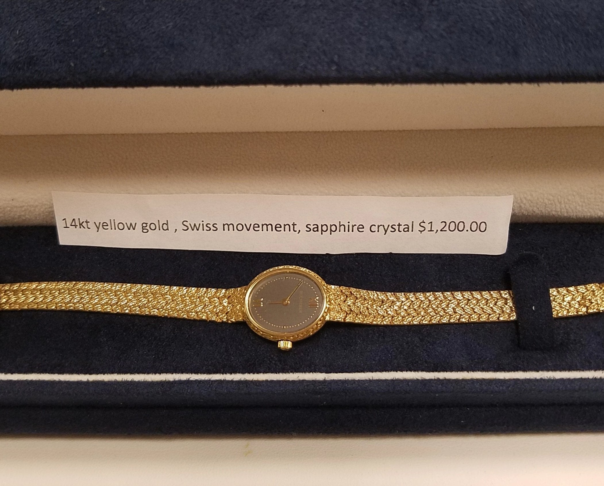 14k Yellow Gold Ladies Watch