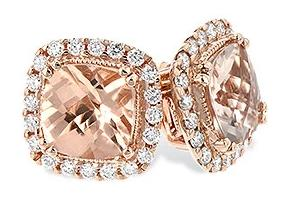 14k Pink Gold Morganite Earrings
