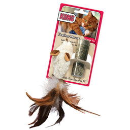 Refillable Catnip Feathered Mouse