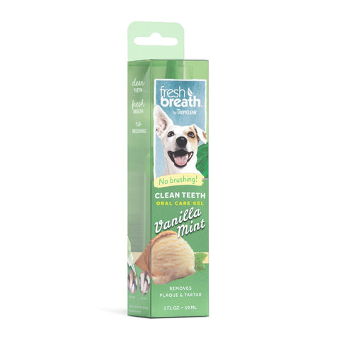Fresh Breath Gel for Dogs Vanilla Mint 2oz