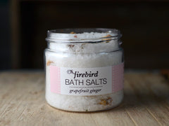 Grapefruit Ginger Bath Salts - Mini Jar