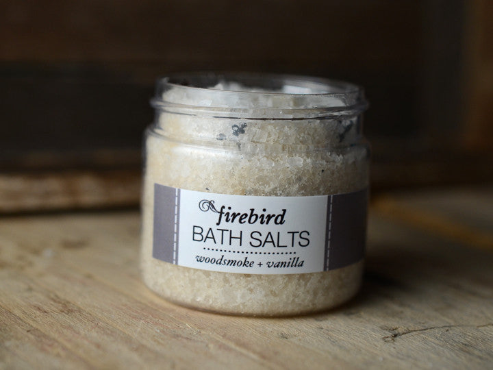 Woodsmoke & Vanilla Bath Salts - Mini Jar