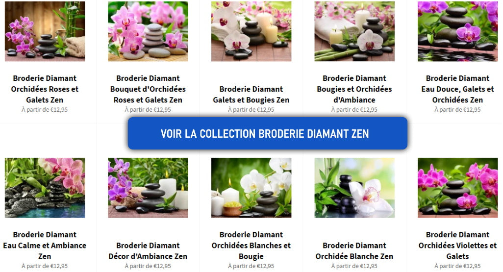 collection broderie diamant zen