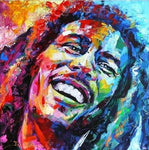 Broderie Diamant Bob Marley Sourire