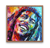 Broderie Diamant Bob Marley Sourire cadre