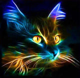 broderie diamant chat fluorescent