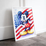 broderie diamant mickey americain decor