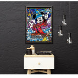 broderie diamant mickey magicien decor