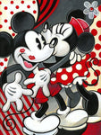 broderie diamant mickey et minnie couleur rouge amour