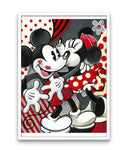 broderie diamant mickey et minnie couleur rouge amour cadre