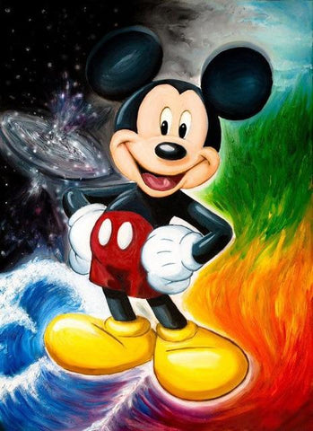 broderie diamant mickey maitre des elements