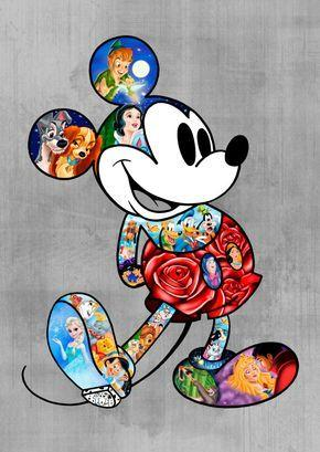 broderie diamant mickey univers disney