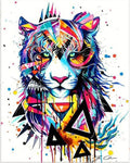 Broderie Diamant Tigre Art Contemporain