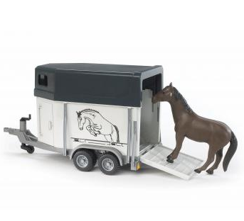 Bruder Horse trailer (with horse)