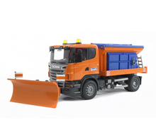 Load image into Gallery viewer, Bruder SCANIA R-series truck winter service with snow plough