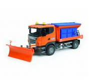 Bruder SCANIA R-series truck winter service with snow plough