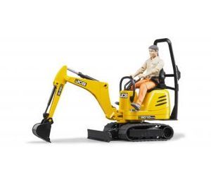 Bruder JCB Micro excavator 8010 CTS and construction worker