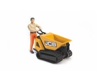 Bruder JCB Dumpster HTD-5 with construction worker (colours of clothes assorted)