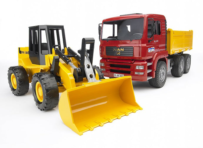 Bruder Construction truck with articulated road loader