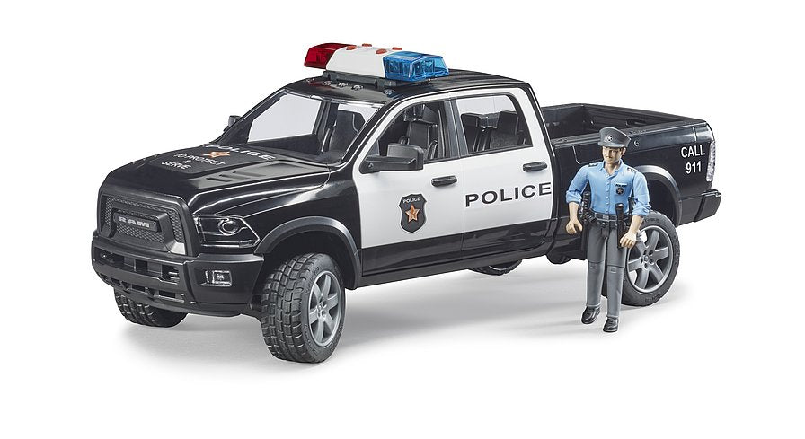 Bruder RAM 2500 police pick-up truck with police officer