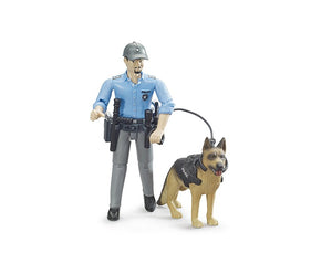 Bruder police officer with dog